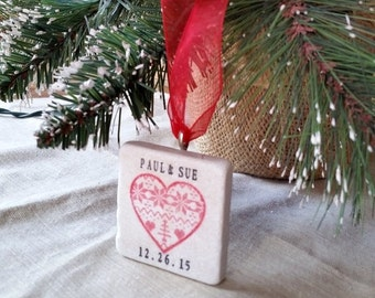 LuckySale Christmas Sweater Heart Ornament With Gift Box