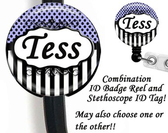 Stethoscope ID Tag And ID Badge Reel, Retractable Badge Holder, ID Badge Holder Combo