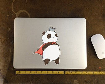 Hero Panda - Large Vinyl Laptop Sticker