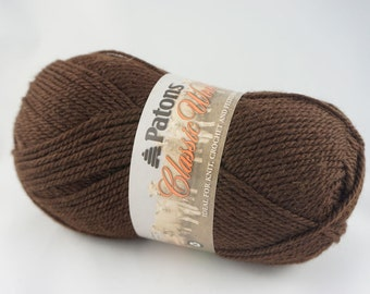 DeStash: Patons Classic Wool Chestnut Brown