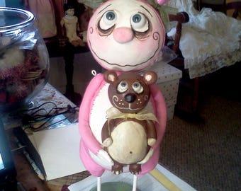 Fait sur commande Grimmy Pâques lapine
