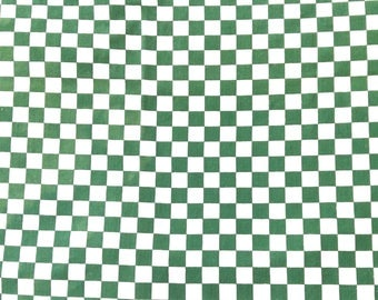 Checked Tablecloth Green and White Checks Artex with Tag