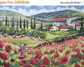On Sale Afternoon Stroll Large Original Oil Painting by Prankearts