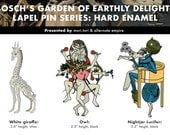 Bosch's Garden of Earthly Delights lapel pins