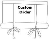 CUSTOM Order for DEICHFELD75 White Cotton Swedish Blinds