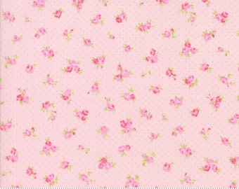 Fleurs by Brenda Riddle for Moda Bitty Floral in Peony 1 yard YES!! Shipping is always combined and fabric is cut continuously