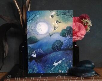 A single greeting card titled 'The Silent Dawn'. By Amanda Clark