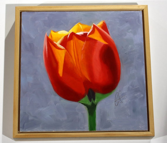 Molten  original tulip oil painting