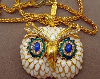 Kenneth J Lane Owl Necklace