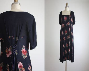 dark floral market dress