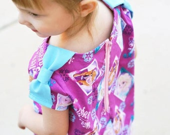 Iceblink Girls Top- PDF Sewing Pattern- sizes 12 months to 11/12 years