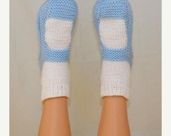50% OFF SALE Instant Digital File pdf download Knitting pattern- Adult Chunky  Sock Slippers pdf download knitting pattern