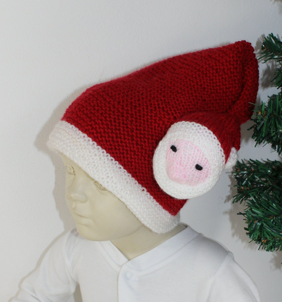 Madmonkeyknits toddler santa head christmas hat knitting pattern this is a digital file bankloansurffo Choice Image