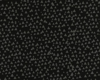 Timeless Treasures Tonal Triangles C3776 Black Cotton Print Fabric