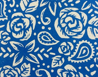 Azul Pattern Woodcut Print 5 x 7in.
