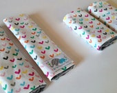 CUSTOM Listing You Pick the FABRIC and SIZE | Car Seat Strap Covers | Shoulder Strap | Hearts O Plenty