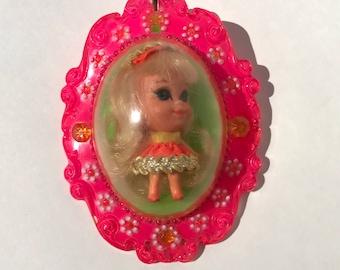 Vintage Toy Liddle Kiddles Lucky Locket Kiddle 1966 Mattel Laverne 3718