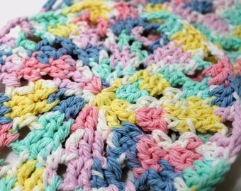 Set of 2 Hand Crocheted Wash Cloths for Baby or Toddler