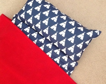 Teepee Personalized Nap Mat, Great for daycare, preschool or kindergarten, boy or girl. Cute Teepees..