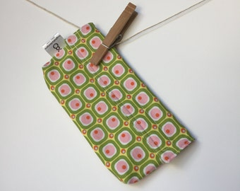 Reusable eco friendly washable Snack - pink green & yellow
