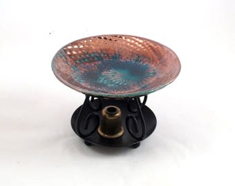 Essential Oil Diffuser in Dragon Skin Raku Handmade Ceramic Pottery