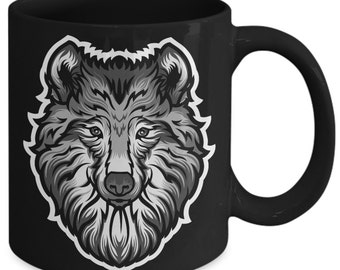 Grey Wolf Timber Wolf Western Wild Canine Coffee Mug
