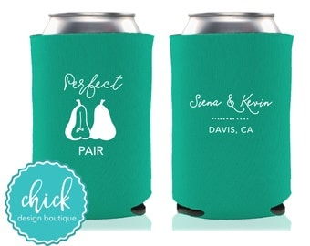 Perfect Pear - Custom Can Cooler Personalized Wedding Favor Party Gift Anniversary Favor Engagement Favor  1D240