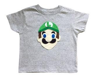 Luigi - Kids Grey T-Shirt - Children's Clothing - Gift