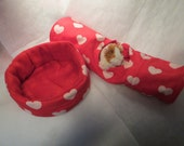 Valentine Combo Large Cuddle Cup in Flannel & Fleece with XL Tunnel in Flannel