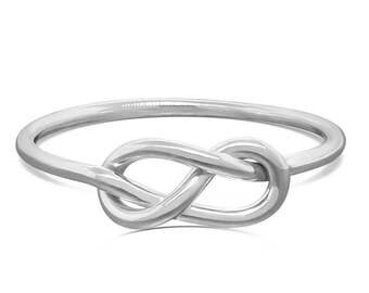 Sterling Silver Infinity Ring • Unique Engagment Ring • Simple Promise ring • Purity Ring Gift for Her • Commitment Ring