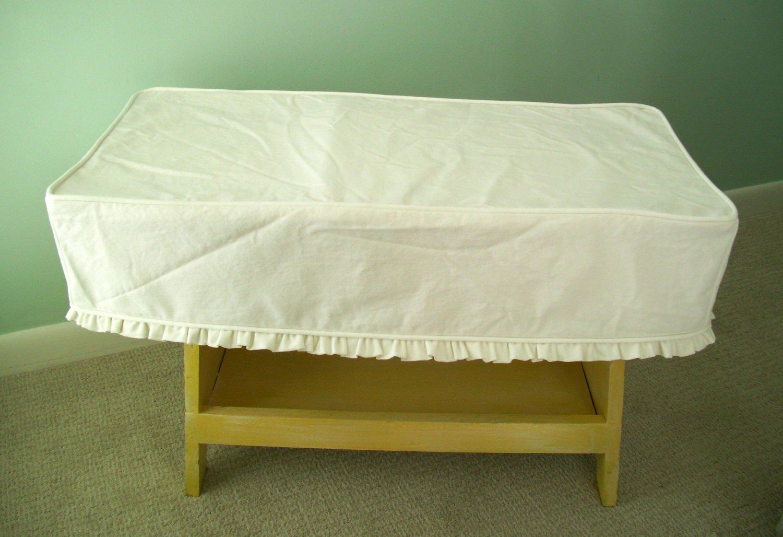 Small Bench Slipcover Ruffled Skirt Piano Bench Cover