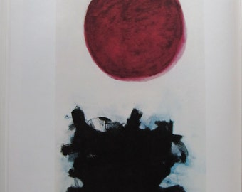 Adolph Gottlieb, Blast I, Color Plate, 1970s Book Page, Unframed Print