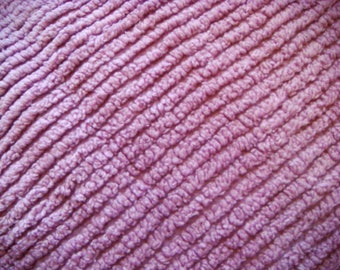Lavender Plush Ribbed Vintage Chenille Bedspread Fabric 12 x 27 Inches