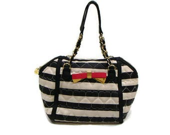 Vintage Betsy Johnson Pink Bow Purse Betsey Johnson Black And White Purse Betsy Johnson Bow Purse Black And White Purse