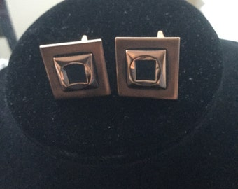 Vintage Renoir Copper Arts & Crafts Modernist Cufflinks