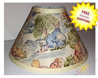 Winnie the Pooh IV Lamp Shade - Your choice of size and fitting - FREE Domestic Shipping