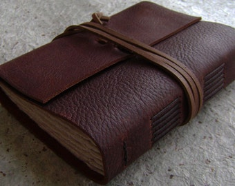 "Rustic leather journal, 4"" x 6"", old world journal, leather travel journal, (2361,)"
