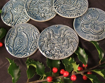 12 Days of Christmas FREE Ship ornaments- 1st 6 Days in limited edition collector series