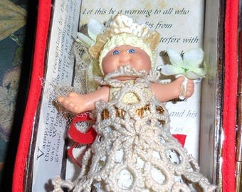 Creepy Doll Assemblage Wedding Night Bride Of The Vampire / Nosferatu / Vampire Bride Assemblage