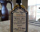 Private Listing for idoGinaZick Olive Oil Stickers - Greek Wedding Labels - Olive Oil - Salt Jars - Hotel Gifts - Wedding favor labels