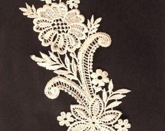 Ivory Lace Applique ,Wedding Lace Applique,