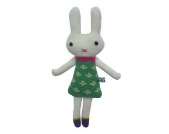 Mini Knitted Lambswool Girl Bunny
