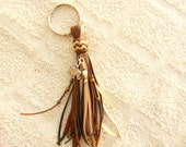Kangaroo Leather Key Fob/Key Chain/Purse Tassel/Zipper Pull