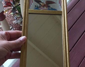 Small american eagle pier mirror
