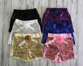 Sequin Shorts- Birthday Outfit- Girls Dark Purple Sequin Shorts- Toddler Shorts- Sequin shorts-Girls shorts-1st Birthday Outfit- Photo Shoot
