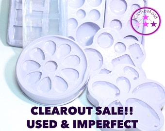 CLEARANCE Used or Imperfect Pendant and Cabochon Molds; Bulk Bag