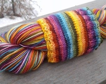Russian Rainbow Self-striping Superwash Merino and Nylon Blend Sock Yarn
