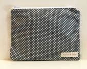 Reusable Sandwich Bag,  Zipper Bag  - Polka Dot