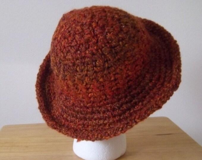 Hat - Crochet Hat in Brown - Size Medium
