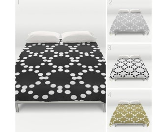 Twin XL duvet - Modern Duvet Cover - Black and White duvet cover - Grey duvet cover - queen duvet cover - king duvet cover - full duvet